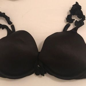 Black frilly strap bra